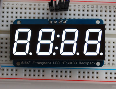 Adafruit 4-Digit 7-Segment Display in White